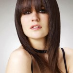 Pretty and Easy Hairstyles for Long Hair Bangs