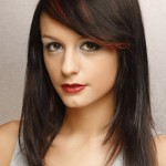 Long Brunette Hairstyles with Side Bangs