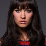 Long Brunette Hairstyles with Bangs
