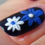 Floral Nail Art Designs for Xmas