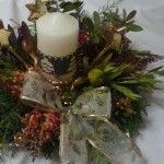 Flower Arrangements for Christmas Table