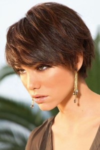 Short Brunette Hairstyles with Bangs 2015