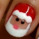 Twist Santa Claus Nail Painting