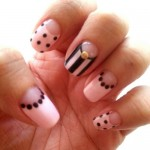 Golden Dotted Nail Art Design's Pictures