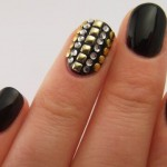Studded Nail Art Design's Pictures