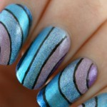 Wavy Rainbow Nail Design's Pictures