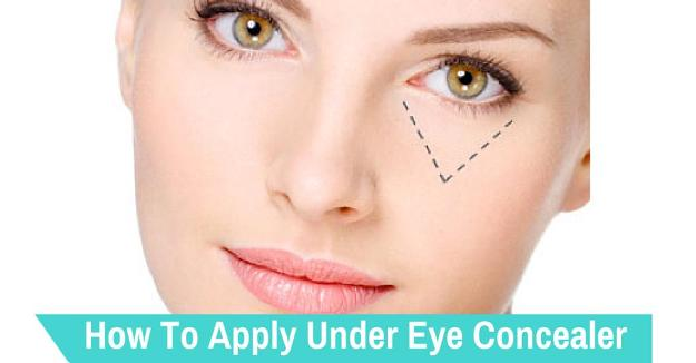 Apply Concealer under Eyes