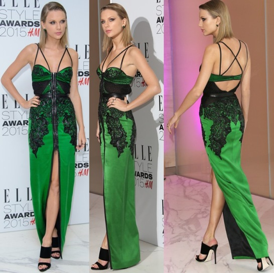 Taylor Swift Green Dress Collection of Elle Style Awards
