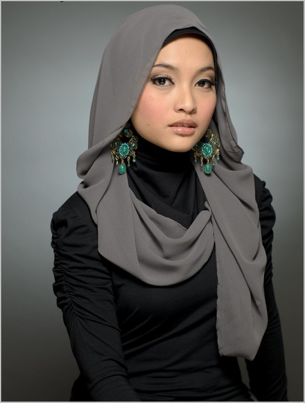 Hijab for Rectangular Face