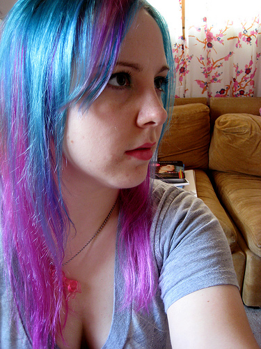 Cotton Candy Hair Dye Blue and Purple