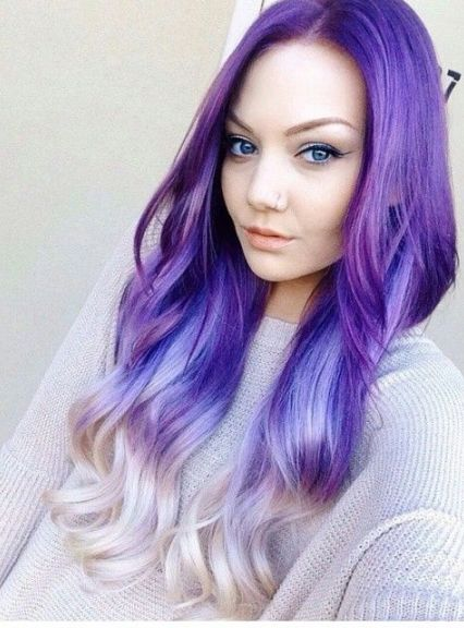 Blonde Hairstyles with Purple Streaks