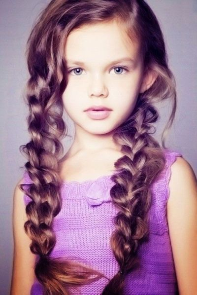 Blonde Hairstyles with Purple for Little Girls