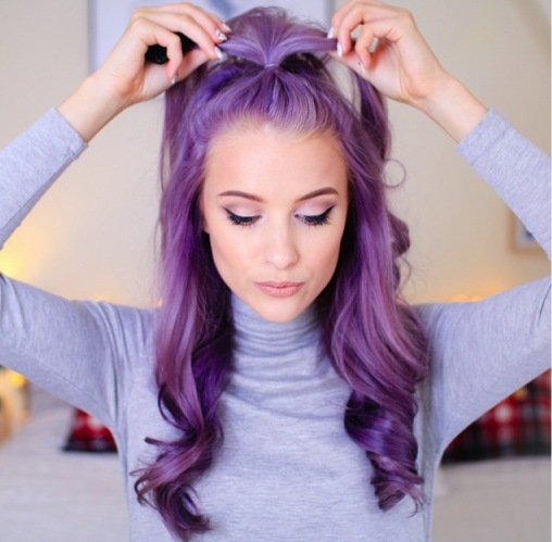 Purple Hair Ponytail