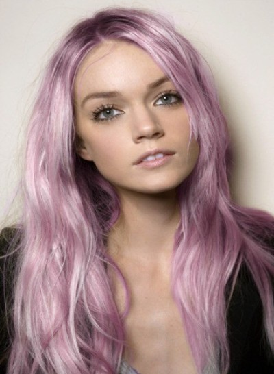 Purple Pastel Hair Highlights
