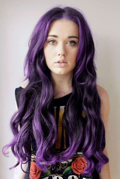 Purple Ombre Blonde Hair