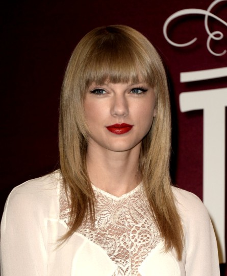 Taylor Swift Fringe Blonde Hairstyles