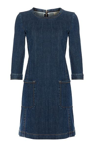 Max Mara Cinzia Denim Dress with Pocket