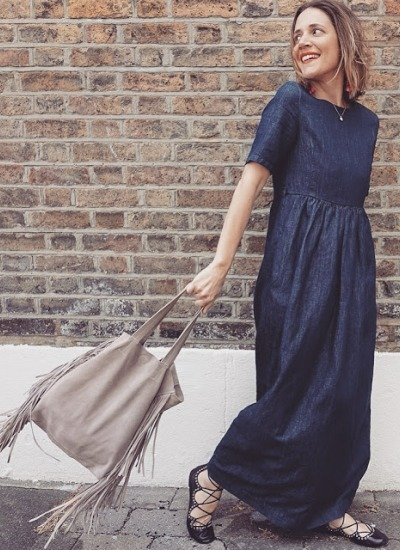Max Mara Denim Maxi Dress