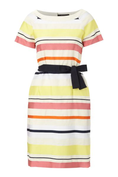 Max Mara Ivy Domino Belted Stripey Dress