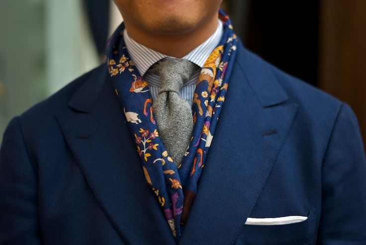 Mens Silk Scarves How to Wear Rightly