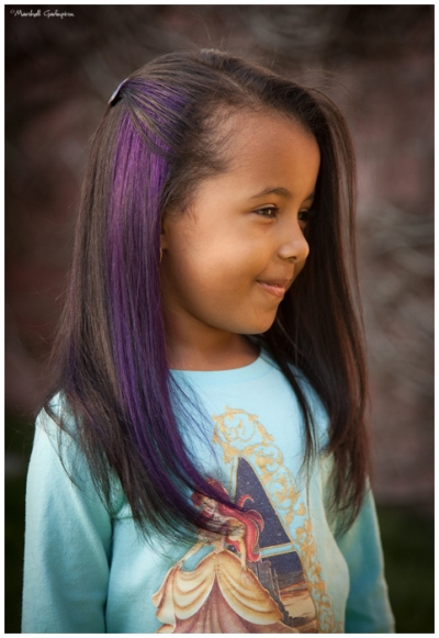 Long Hairstyles With Purple Streaks