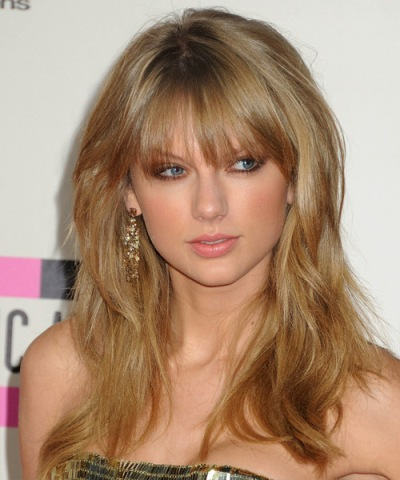 Front Bangs Taylor Swift Hairstyles