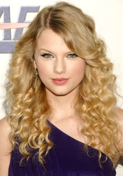 Chic Long Blonde Curly Hair Color