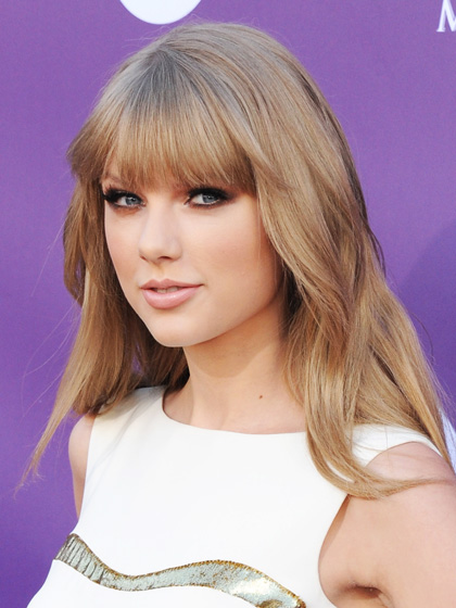 Taylor Swift Straight Bangs Hairstyles