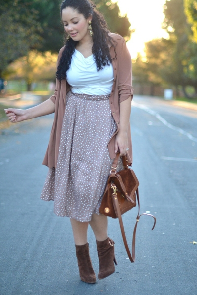 How to Wear Ankle Boots with Skirts