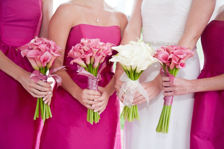 Pink Calla Lily Wedding Bouquet