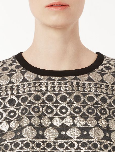 Jacquard and Jersey Top