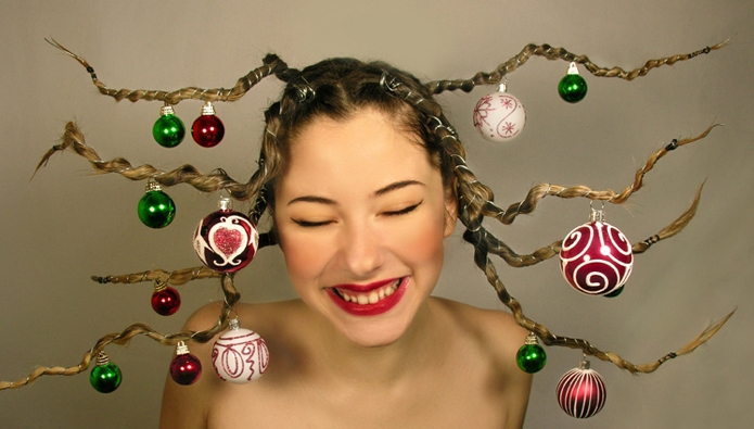 Cute Little Girl Hairstyles for Christmas