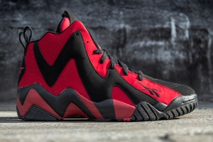 Red and Black Reebok Kamikaze 2 for Men