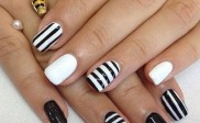 Cute & Simple Striped Nail Design
