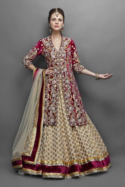 Latest Anarkali Lehenga Designs
