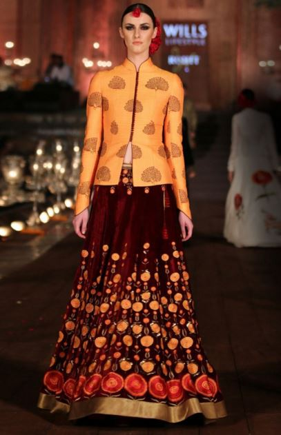 Bundhgala Choli and Kurta Lehenga Designs