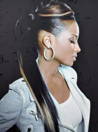 Black Hairstyles Ponytail With Bangs