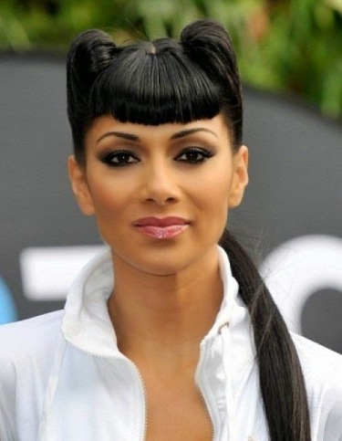 Latest Black Ponytail Bangs Hairstyles
