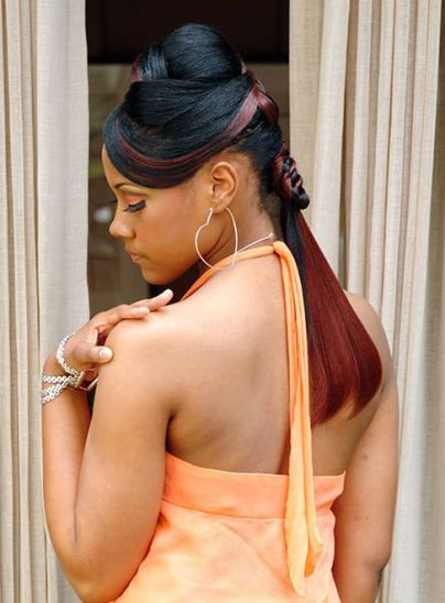 Updos Ponytails Prom for Black Hair