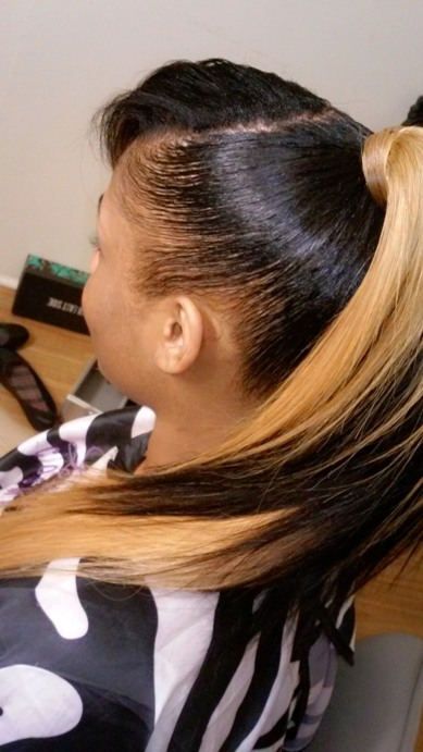 High Sleek Ponytail Hair for Black Girl