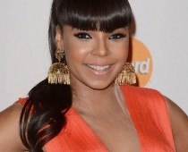 African American High Ponytails Styles with Blunt Bangs