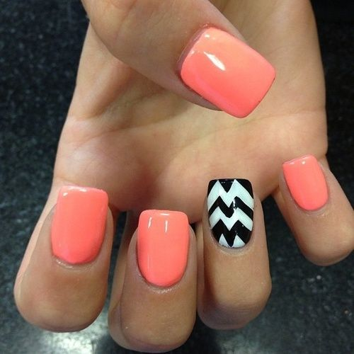 Best and Pretty Chevron Nails Art Design