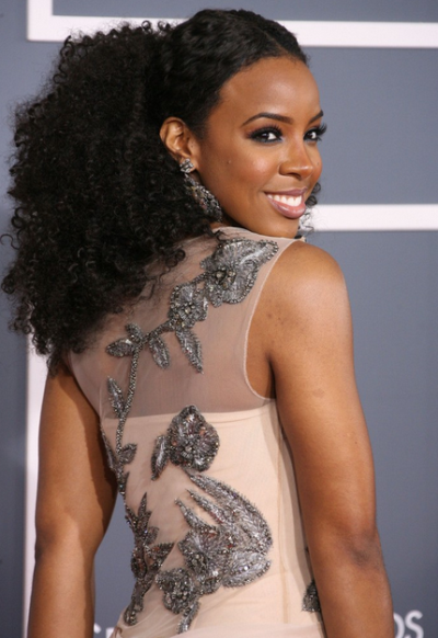 Kelly Rowland Messy Hair for Balck Girls