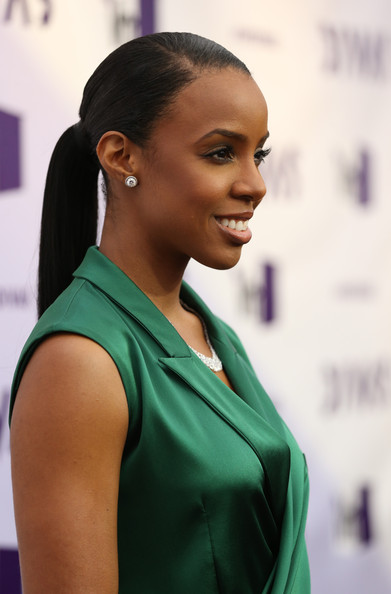 Kelly Rowland Red Carpet Ponytail Haircut