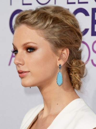 Swift Slicked-back Updo Half