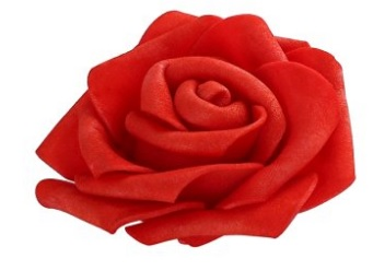 Deep Red Artificial Rose Flower for Wedding