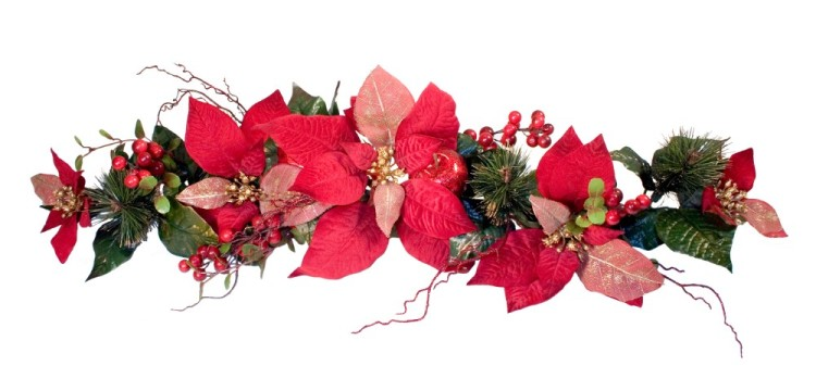 Christmas Silk Flower Arrangements Swag Idea