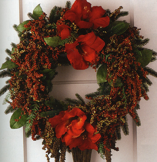 Outdoor Silk Floral Wreaths for Church & Home
