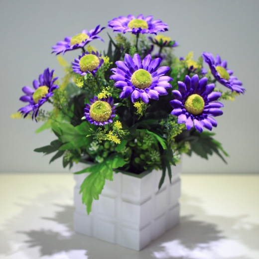 Purple Chrysanthemum Artificial Flower Table Centerpiece for Home