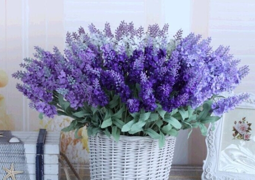 High False Silk Flowers 10 Head Provence Lavender Simulation Flower DIY Home Decoration